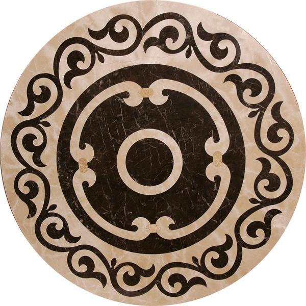 圓形拼花 - 編號:C4622